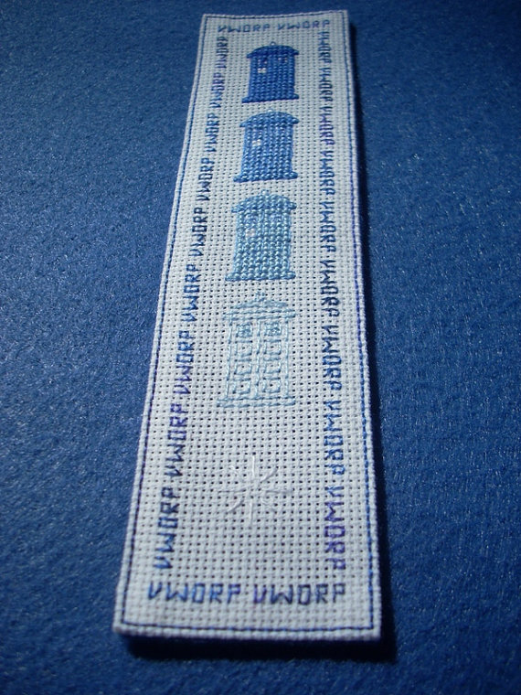 Doctor Who Bookmark Pattern Disappearing TARDIS by DaleksTeahouse ...