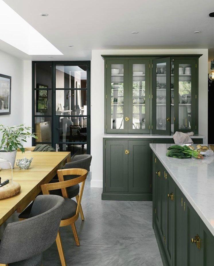pin by lan xue on gate house green kitchen cabinets green kitchen interior dark green kitchen on kitchen interior green id=47614