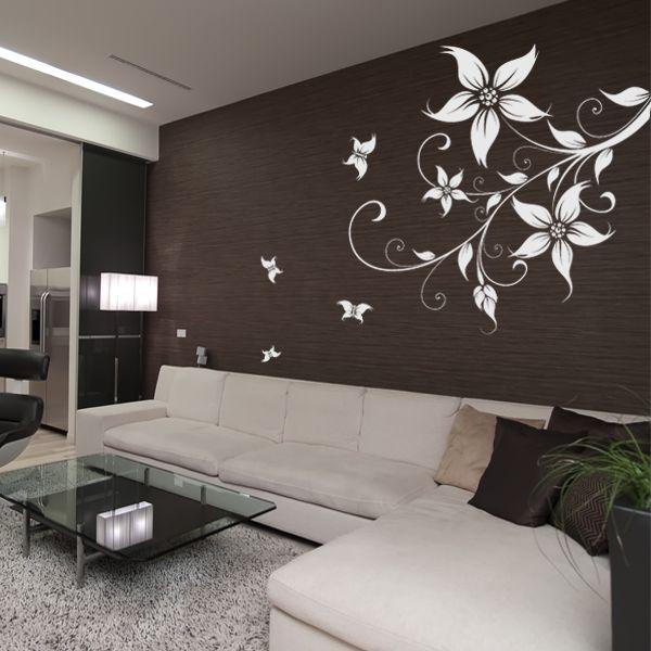 Adesivo Murale fiore farfalle | Adesivi murali, Decorazioni ...