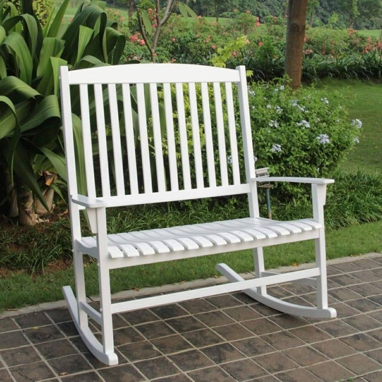 Outdoor Rocking Chair Porch Patio Garden Yard Double 2