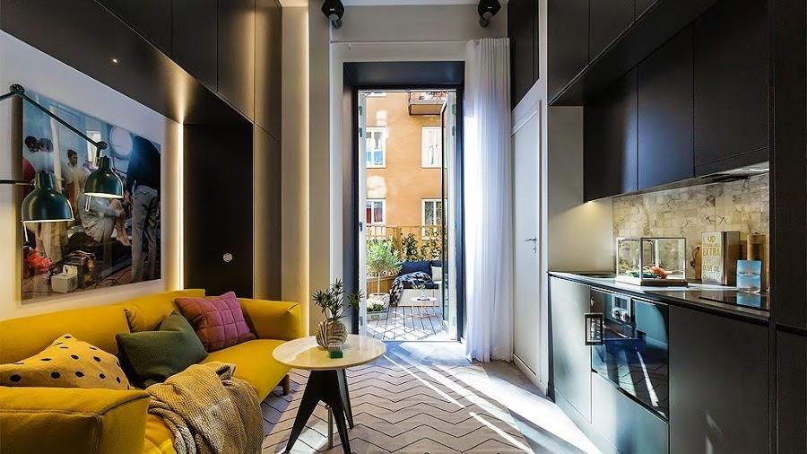 Vivir En 16 Metros Cuadrados Es Posible Salones Pequeños Diseño De Apartamentos Modernos Loft Diseño
