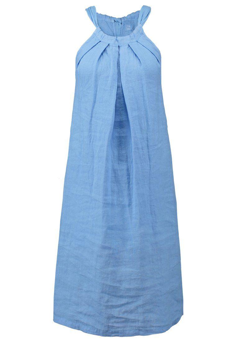 120% Lino Korte jurk star dust blue