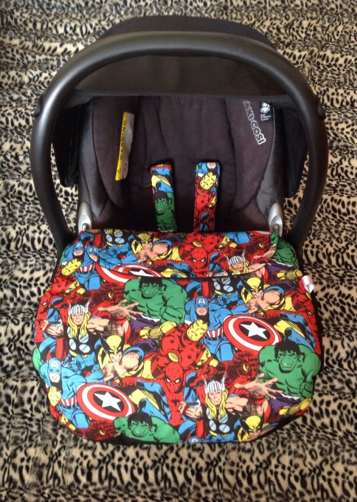 Marvel Baby Car Seat Cover Harness Covers Hand Made Apron Avengers