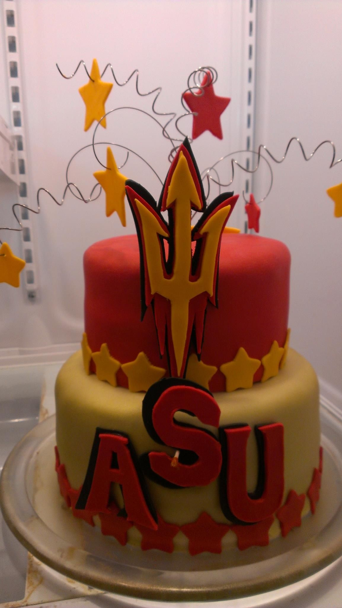 Asu Cake Completed Cakes Pinterest Cake Devil And