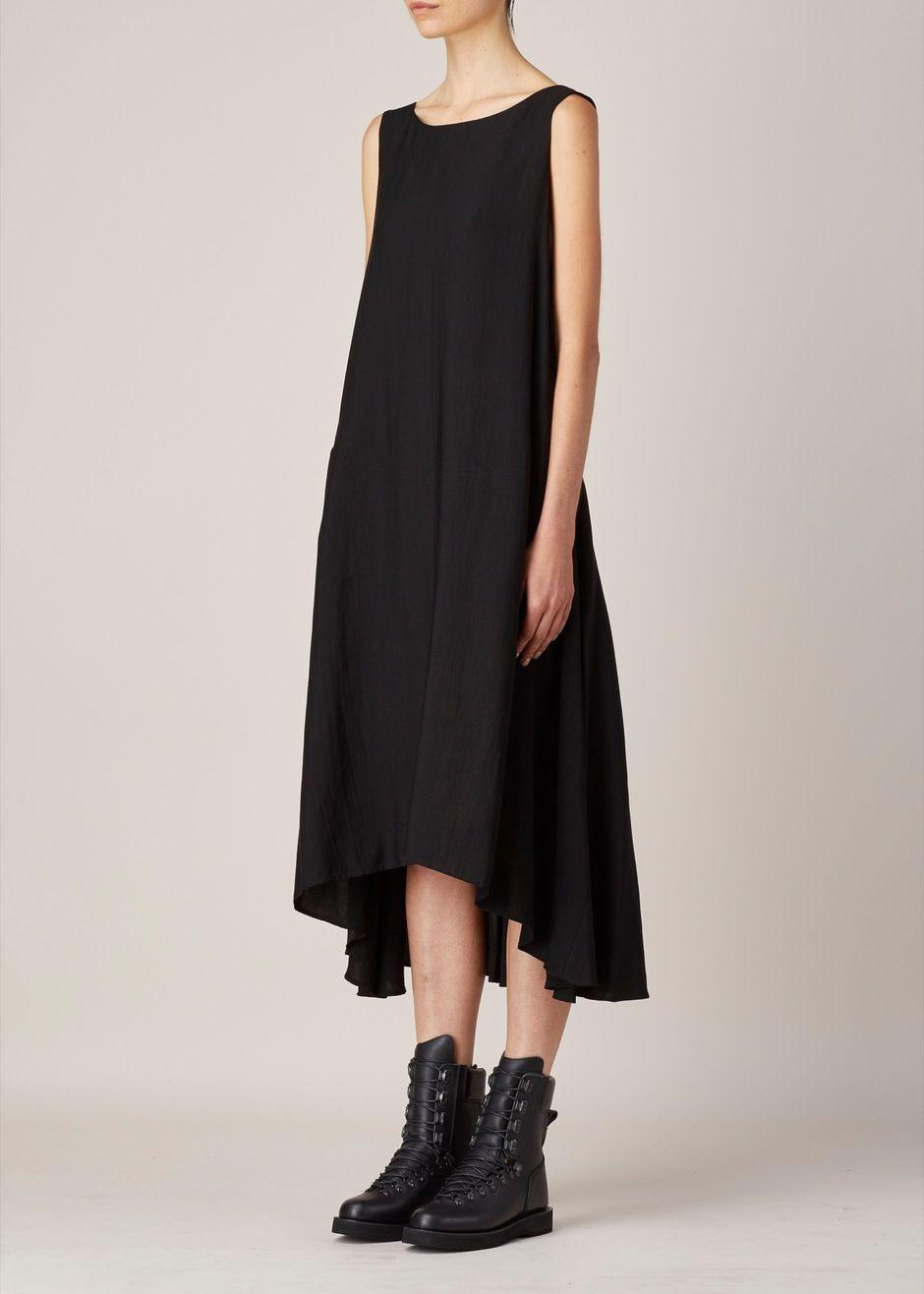 Yus by yohji yamamoto aline dress black abiti casual