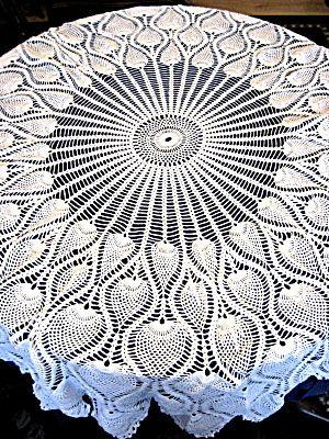 Beginner Crochet Tablecloth Patterns : PINEAPPLE TABLECLOTH CROCHET PATTERN Crochet For ...