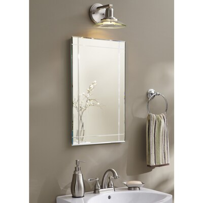 Allen Roth 16 In X 26 In Rectangle Recessed Mirrored Medicine