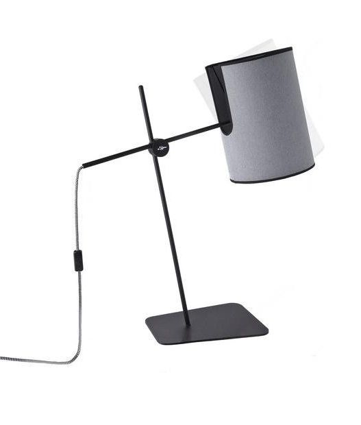 Novel Design Table Lamp with Tilting Grey Shade | Table lamp