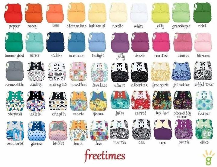 BumGenius Freetime prints AIO one size cloth diapers! The ones