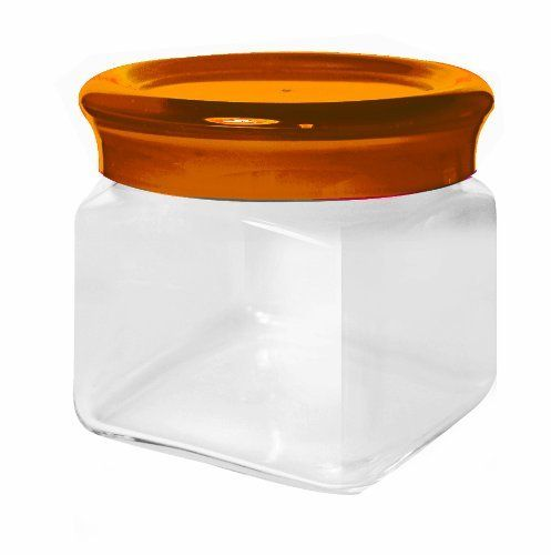 Omada M4531GI Yellow Square Jar 0.5-Liter by KD Gifts. $19.80. Designed and made in italy. Length 4-1/2-inch width 4-1/2-inch height 3-1/2-inch. Combines beautiful color and design with excellent italian quality and durability. Dishwasher Safe. Material: glass ,  san acrylic ,  tpe. Square-shaped glass jars. All Omada products are designed and made by Adamo in Italy. Adamo's double injection moulded manufacturing process delivers a product of excellent quality and dur...
