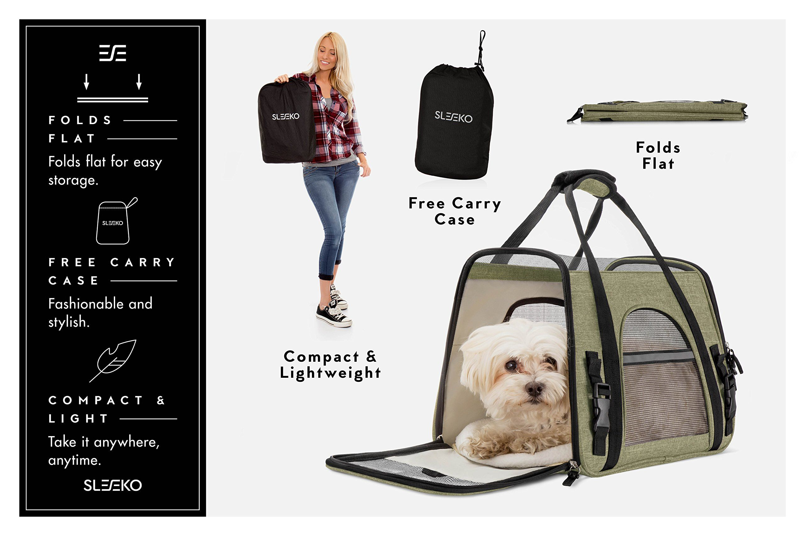 Premium Airline Approved Pet Carrier Under Seat For Dogs And Cats Airplane Travel Bag With 2 Fleece Pads And Stor Luxury Pet Carrier Pet Travel Bag Luxury Pet