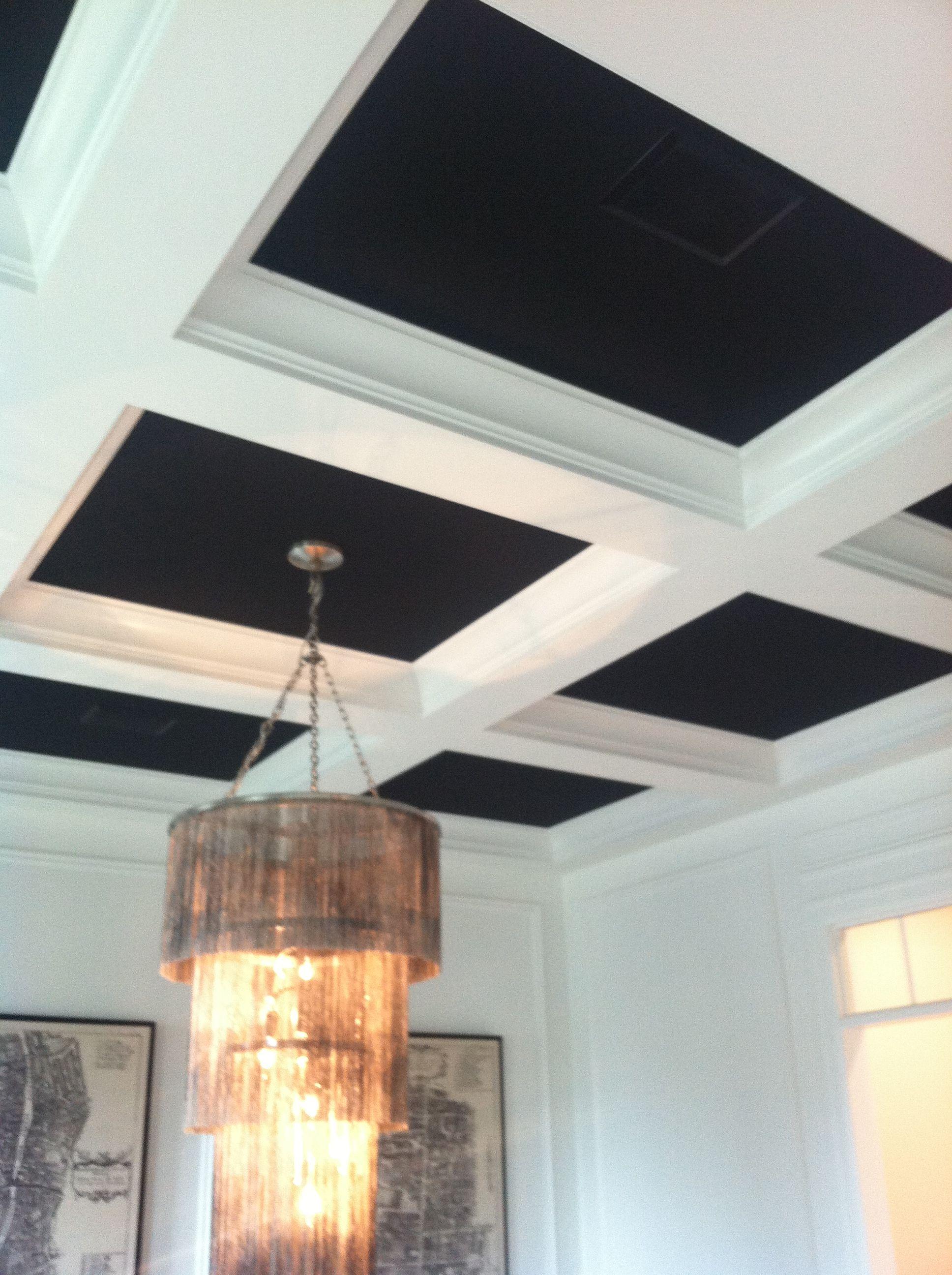 Black Coffered Ceiling Brooke Jones Design