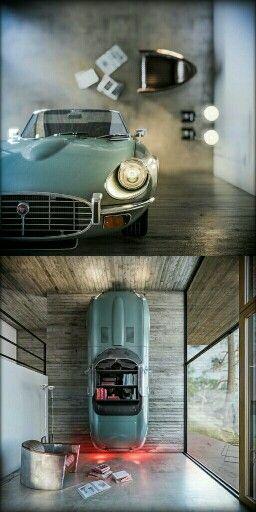 Delightful Jaguar E Type As Bookshelf U0026 Lamp   Brilliant. Awesome Design