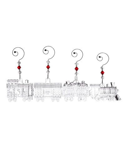 Waterford Set of 4 'Train' Ornaments