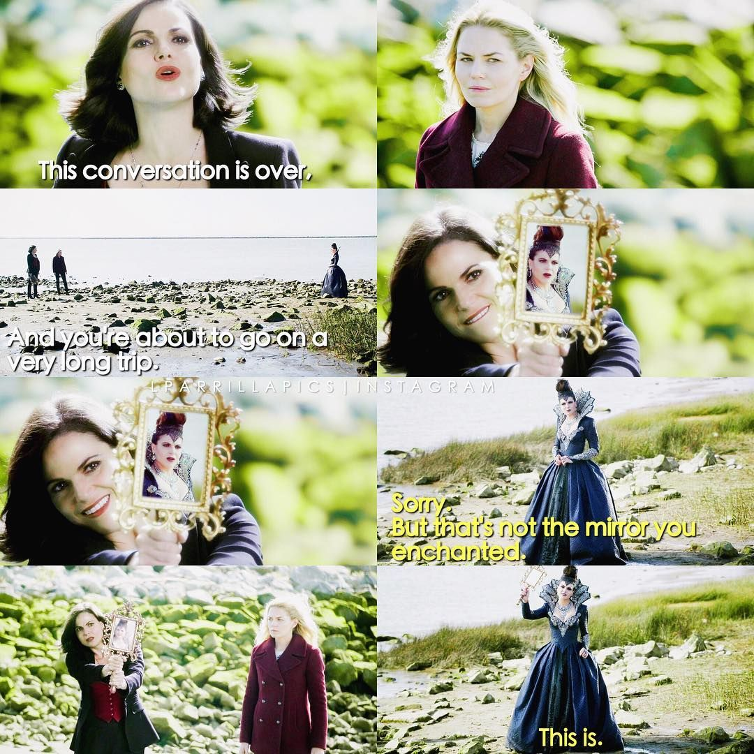 "Emma, Regina and Evil Queen - 6 * 8 ""I'll be your mirror"""