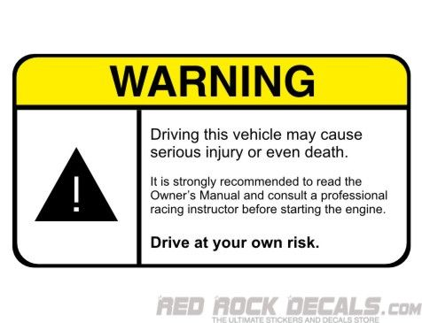 Can Be Used On A Dashboard For Example Cool Stickers For Cars - Car signs on dashboardfunny warning signs funny pinterest signs funny warning
