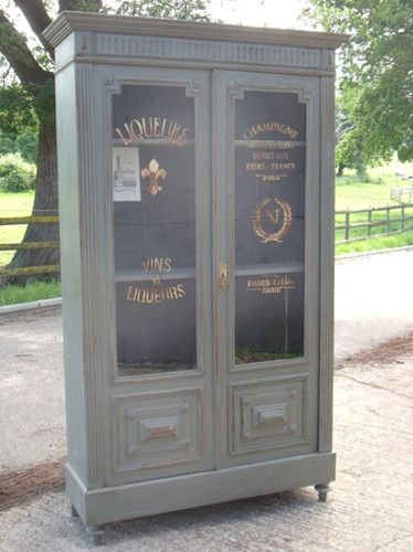 wouldn\'t fit - Vintage French Painted Part Glazed Wine Larder Pantry ...