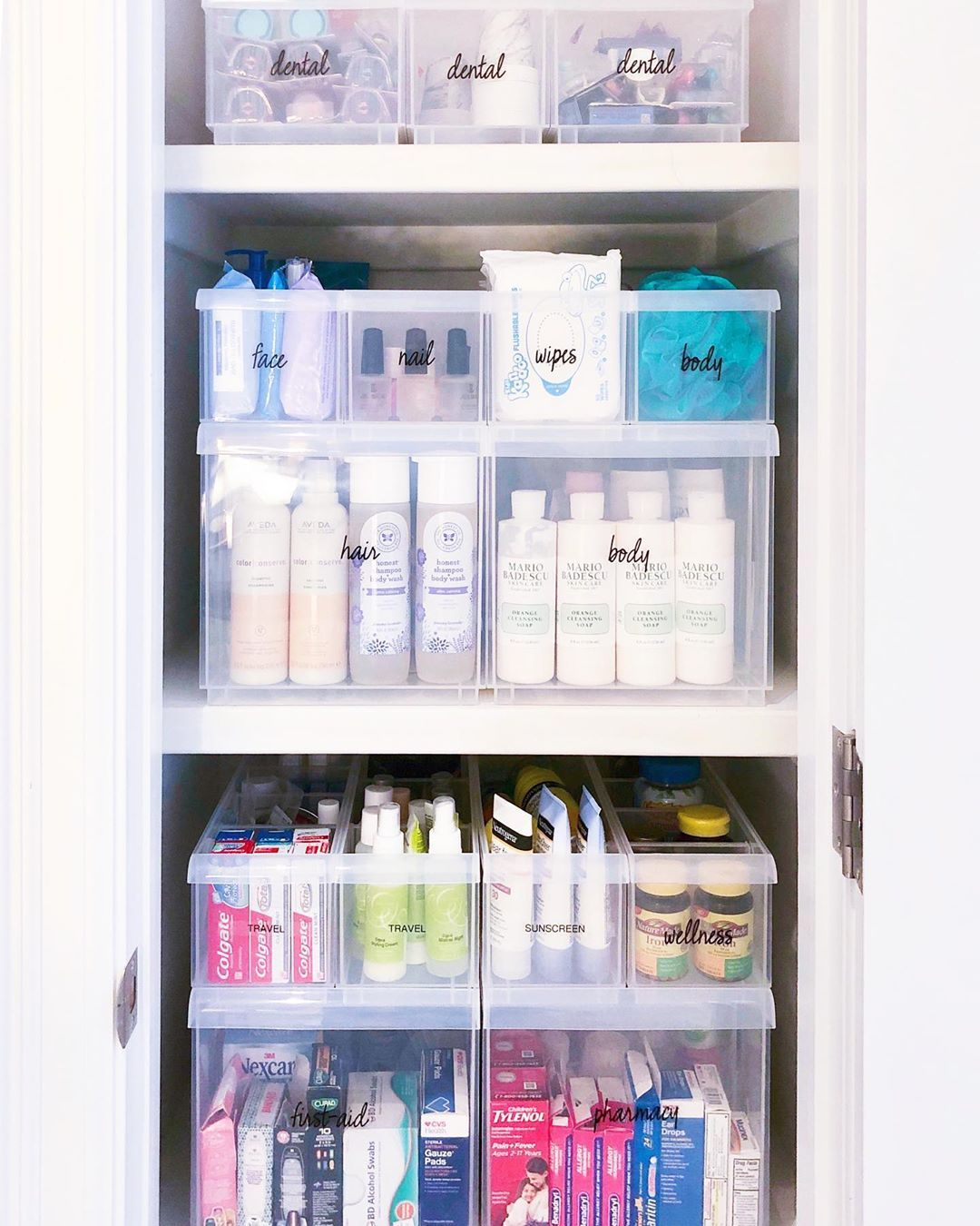 "THE HOME EDIT ® on Instagram: ""A fully stocked - and maximized - bathroom closet ✨ Products from this post - along with THE book, and our other favorite items - are…"" -   19 the home edit organization closet ideas"