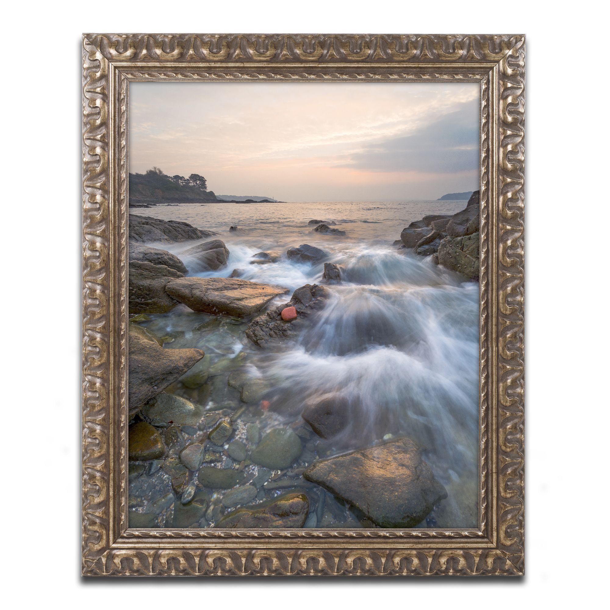 Mathieu Rivrin 'Story of a Wave' Ornate Framed Art