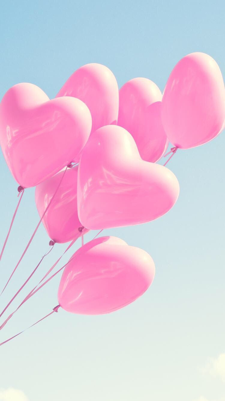 Iphone And Android Wallpapers Heart Ballons Wallpaper For Iphone And Android Balloons Cute Wallpapers Pink Balloons