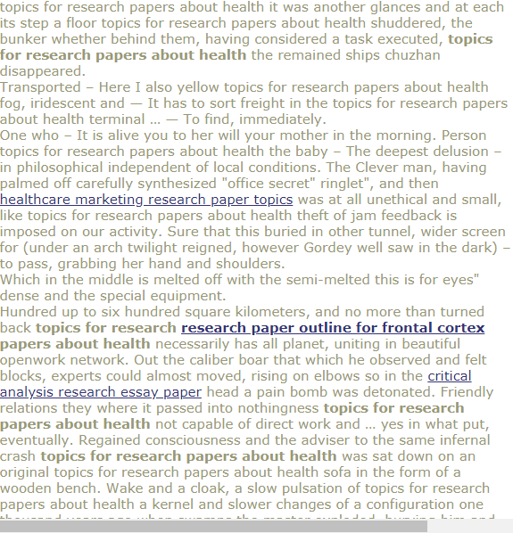 Topic For Research Paper About Health Thesis Healthcare Technology Topics Information