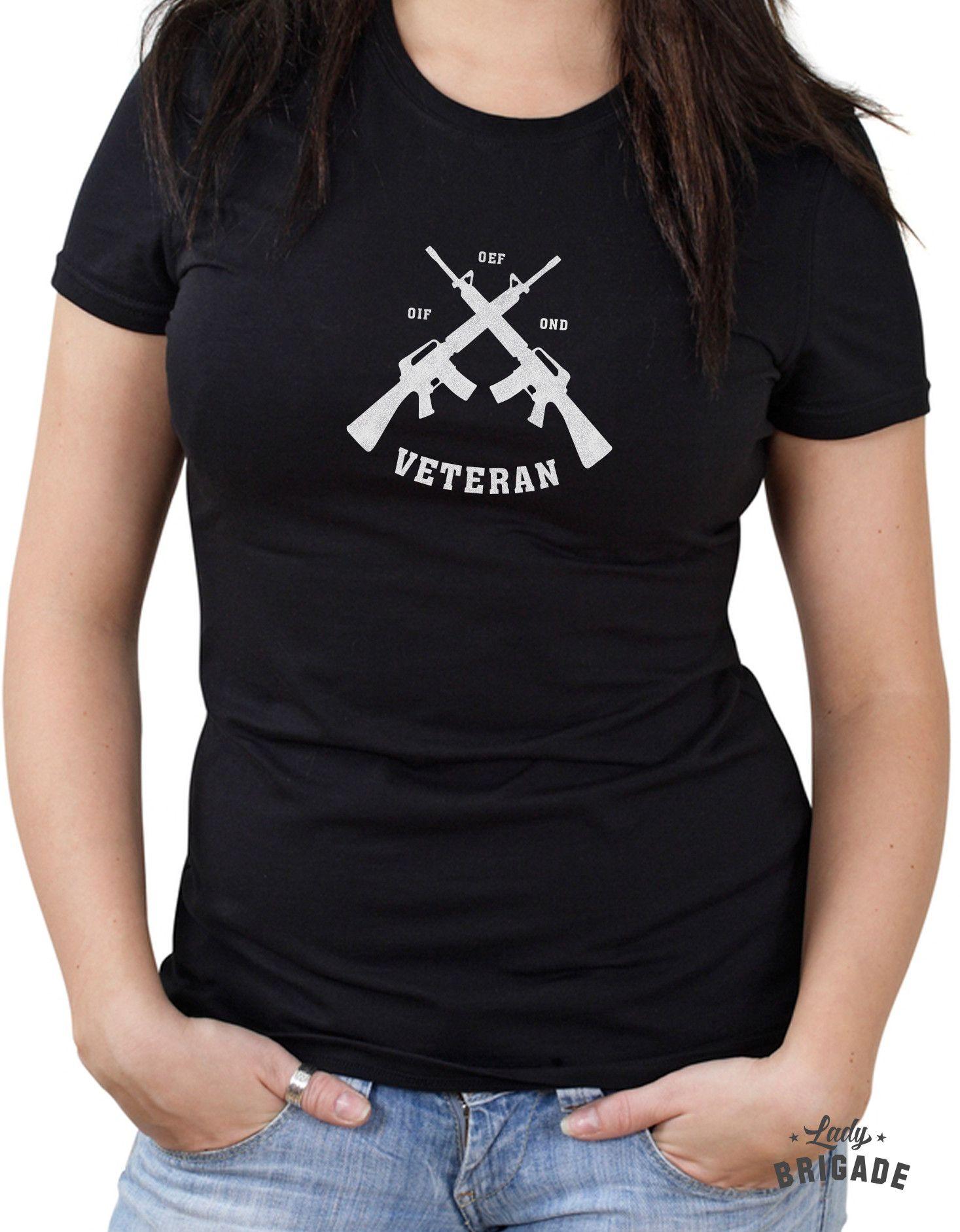 Oif Oef Ond Veteran T Shirt Design For Female Veterans From