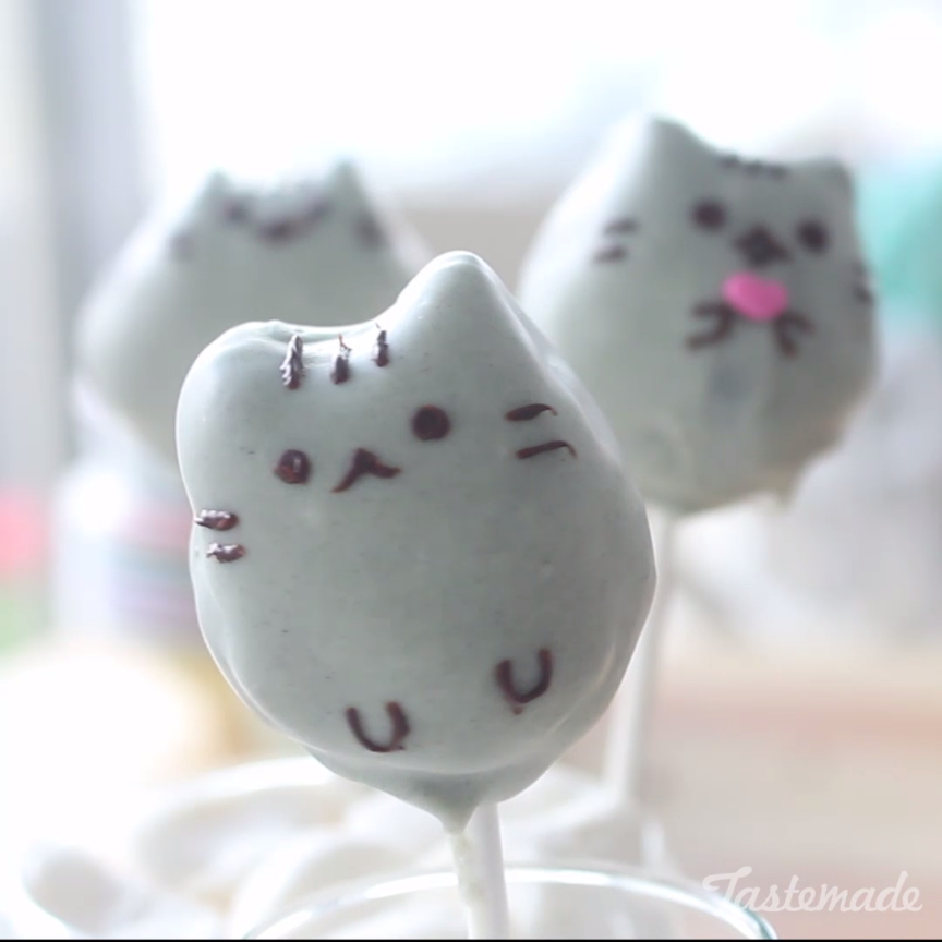Pusheen And Totoro Cake Pop