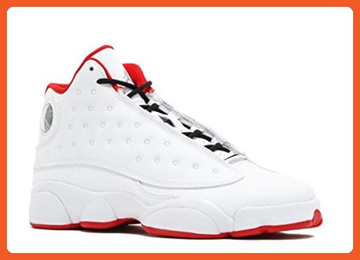 f931bbfd0033 Nike Air Jordan 13 Retro BG Big Kid s Basketball Shoes White Metallic  Silver University Red