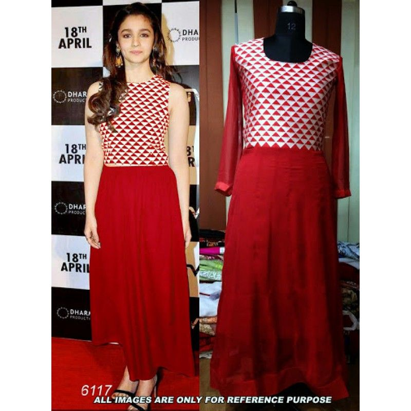 Alia-Bhatt-Red-Bollywood-Replica-Designer-Suit | Bollywood Suits ...