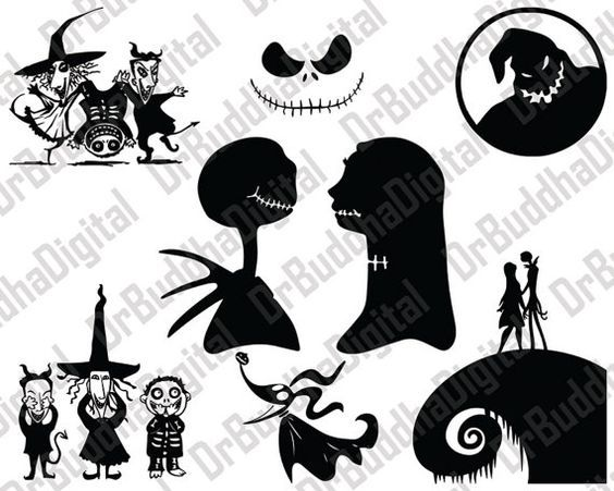 Digital vector clipart cut files (svg png jpg eps dxf) cricut design, silhouette studio, iron on transfer, scrapbooking free printables. Nightmare Before Christmas Svg Collection By Drbuddhadigital Nightmare Before Christmas Tattoo Nightmare Before Christmas Christmas Svg