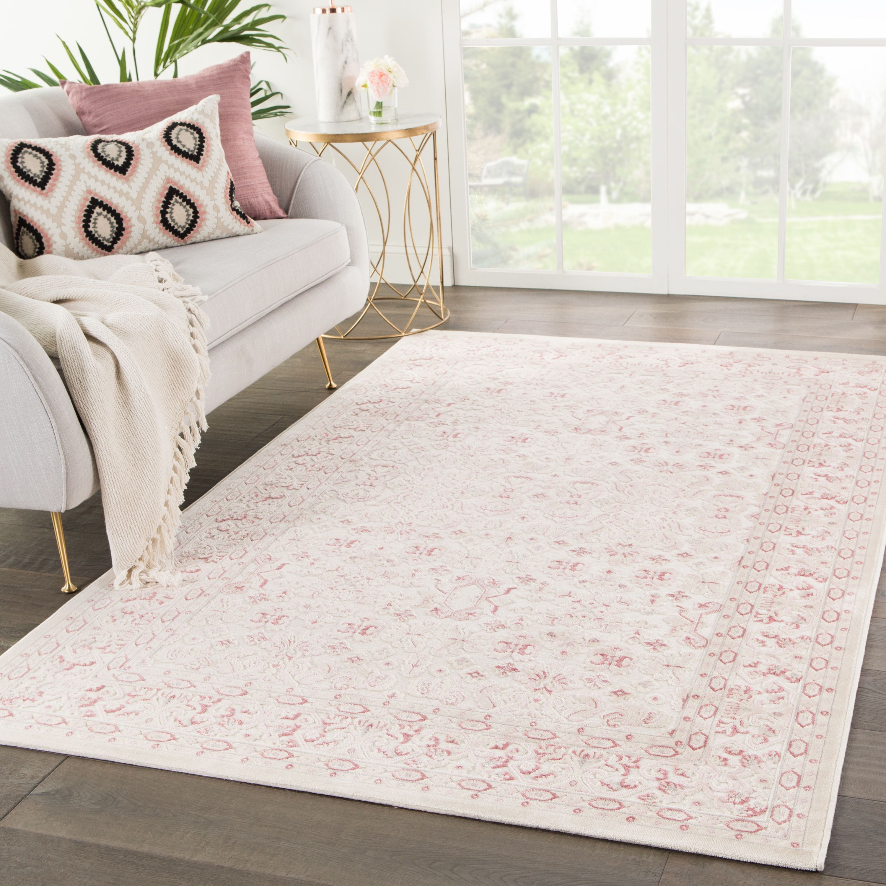This Soft Pale Pink Rug Would Look Fabulous In A Nursery Or With Cottage Decor Find It With Free Shipping At Plushrugs Com Pink Area Rug Pink Rug Trendy Rug