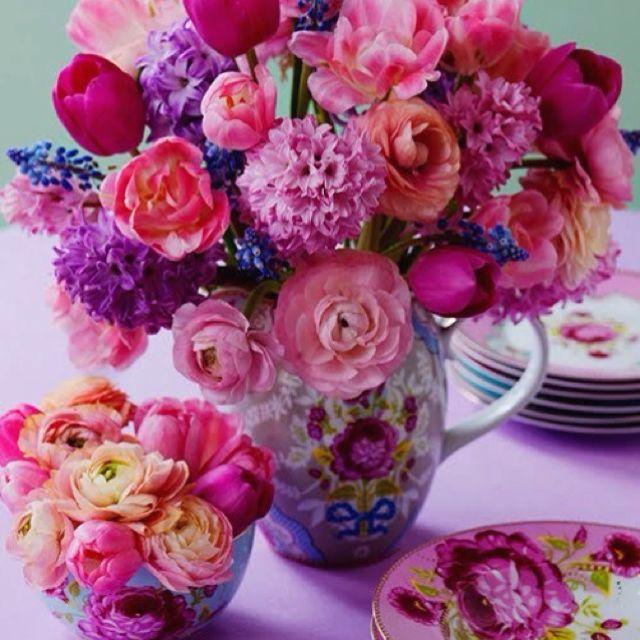 Best pink flower arrangements ideas on pinterest
