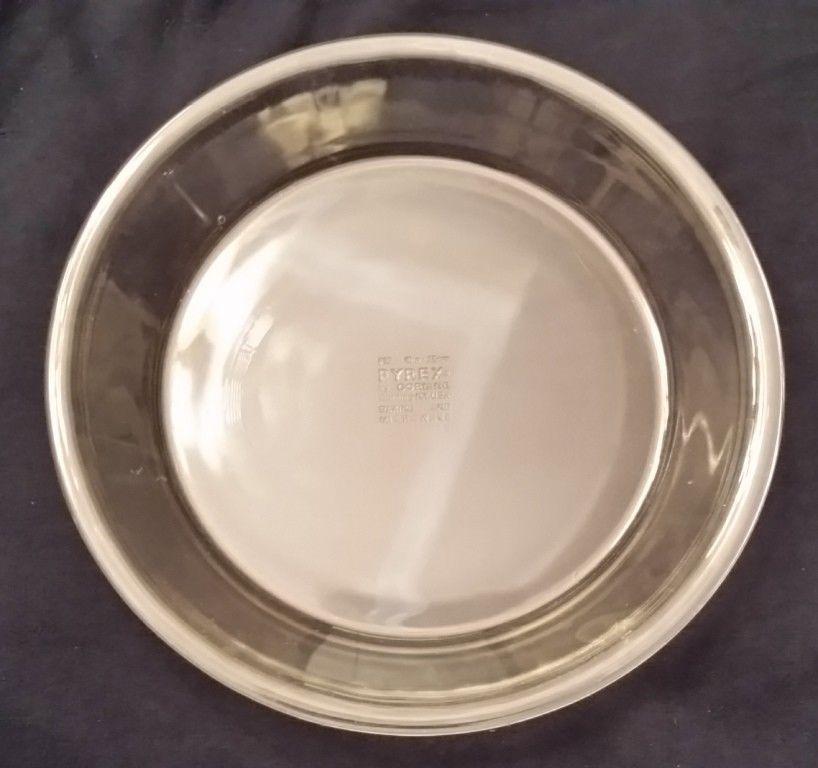 Pyrex Pie Plate Pan Flat Rim 10 Inch #210 Clear Glass Baking Dish Ovenware USA & Pyrex Pie Plate Pan Flat Rim 10 Inch #210 Clear Glass Baking Dish ...