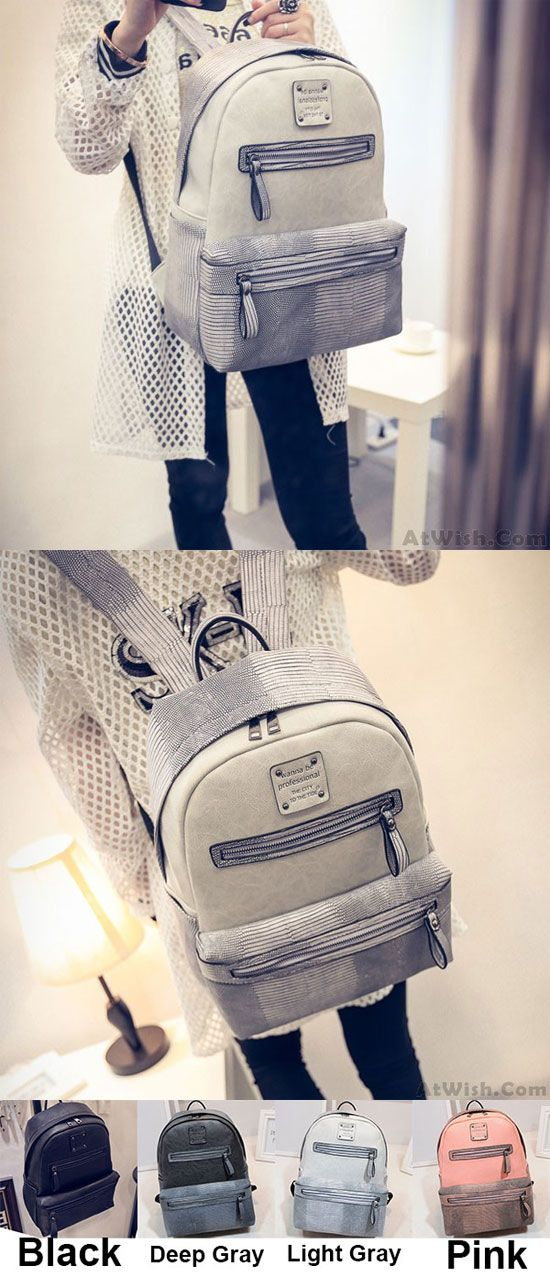 Crocodile  leather  Large  school  backpack  Bag  college  rucksack   student  Girl  cute  travel cab41e1284c87