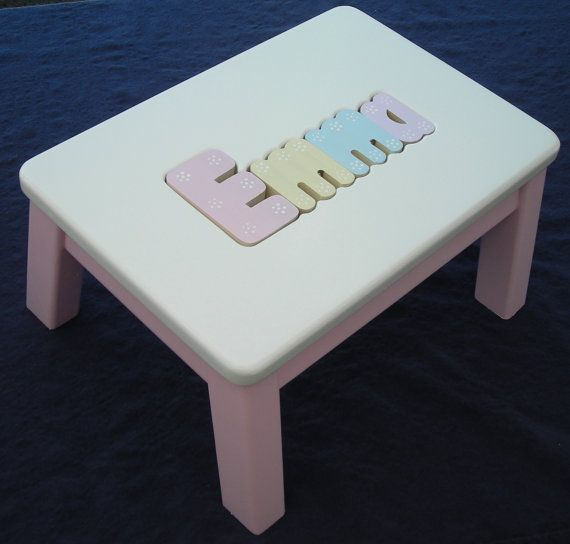 Wooden Personalized Wooden Name Puzzle Step Stool On Etsy
