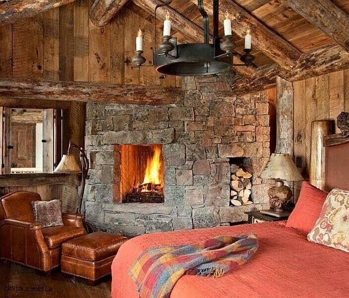 This Rustic Cabin Bedroom Is Perfect For A Fall Night
