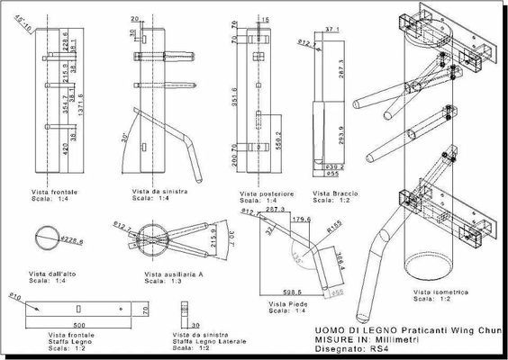 Construir boneco de madeira kung fu