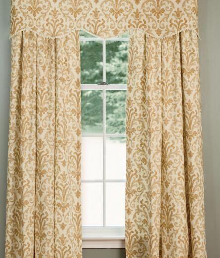 Venetian Brocade Lined Rod Pocket Curtains A Dreamer S