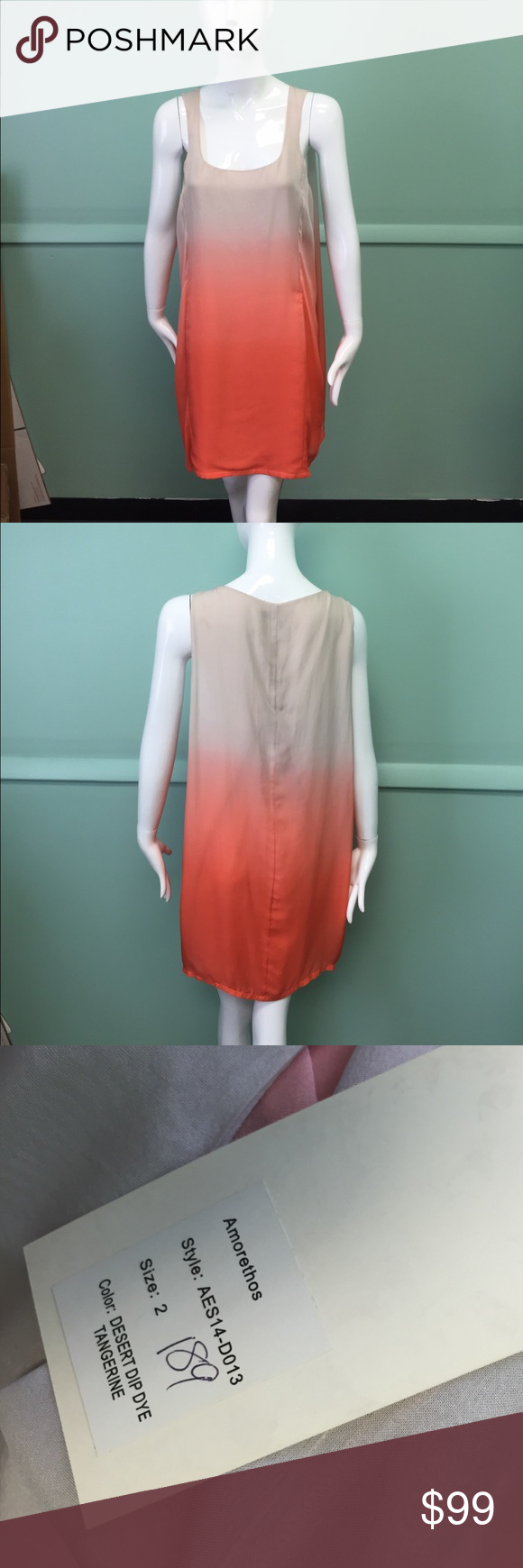 Amorethos desert dip dye silk dress New with tags. No PayPal or trades. Reasonable offers via offer option only. Location: Boca Raton, Fl Amorethos Dresses