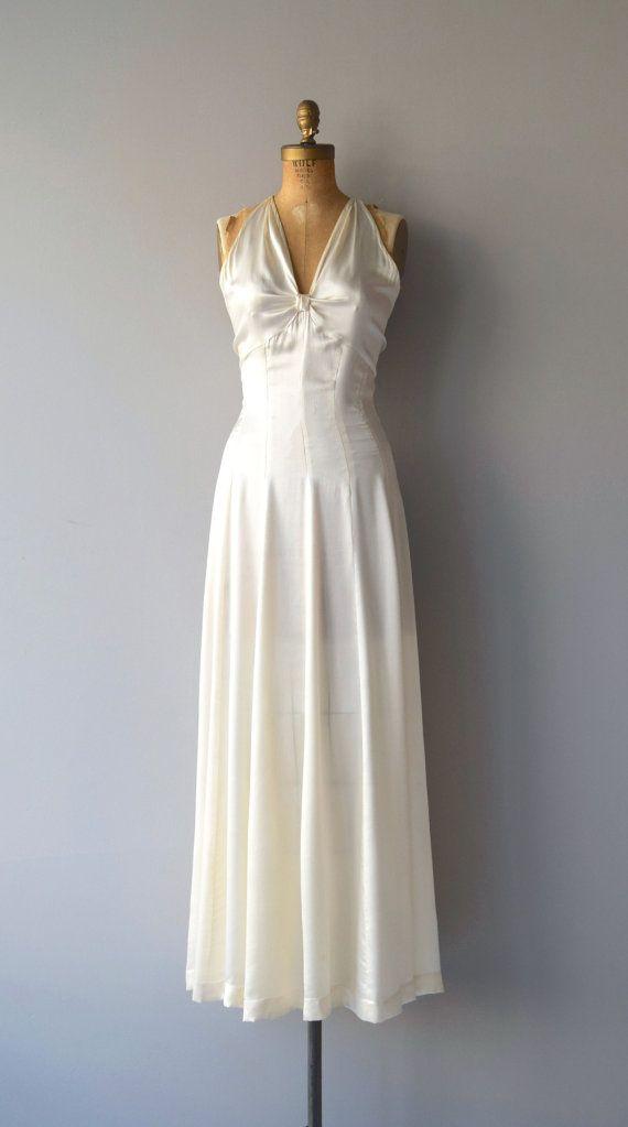 Ardennes silk wedding gown   vintage 1930s wedding dress   silk 30s ...