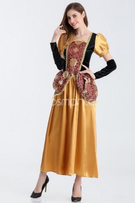 Romantic Classic Court Snow White Halloween Party Dress for Adult - romantic halloween ideas