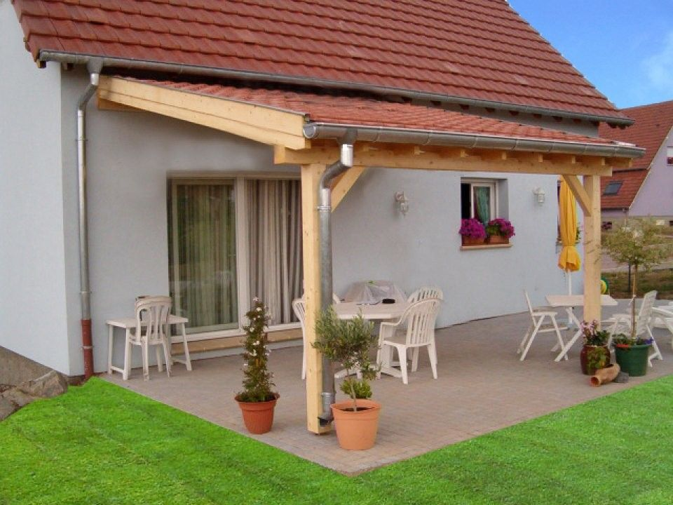 Couvrir Une Terrasse Avec Des Tuiles Abriboa Abri Pergolas 1 Pan Mural Avec Images Pergola Bois Terrasse Couverte Pergola Couverte