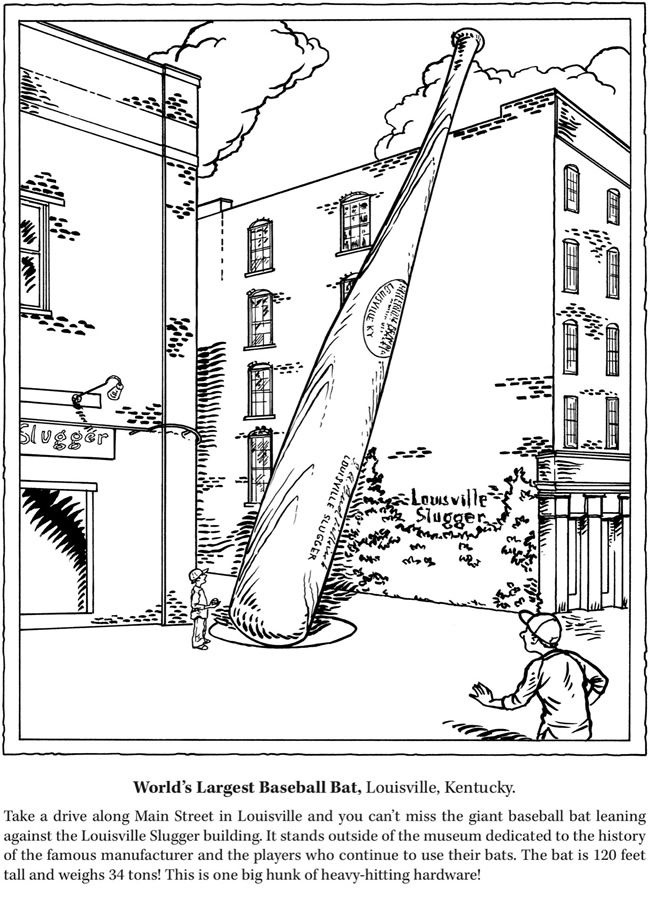 usa landmarks coloring pages | Roadside Attractions Coloring Book: Weird and Wacky ...