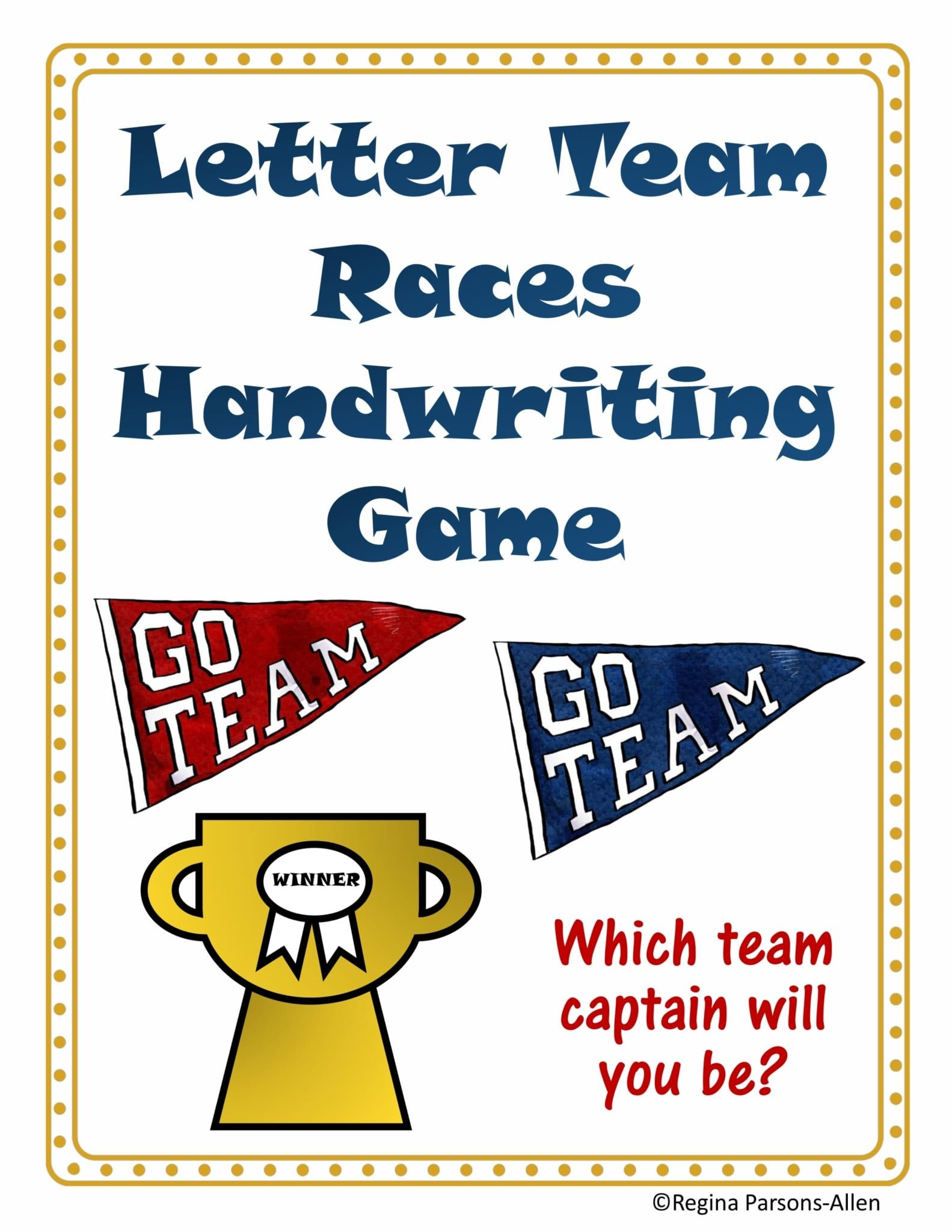 Letter Races Handwriting Game