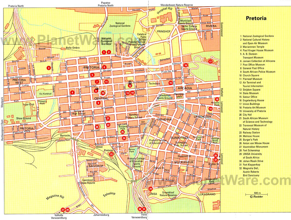 Pretoria Map Tourist Attractions SA Pinterest Pretoria and