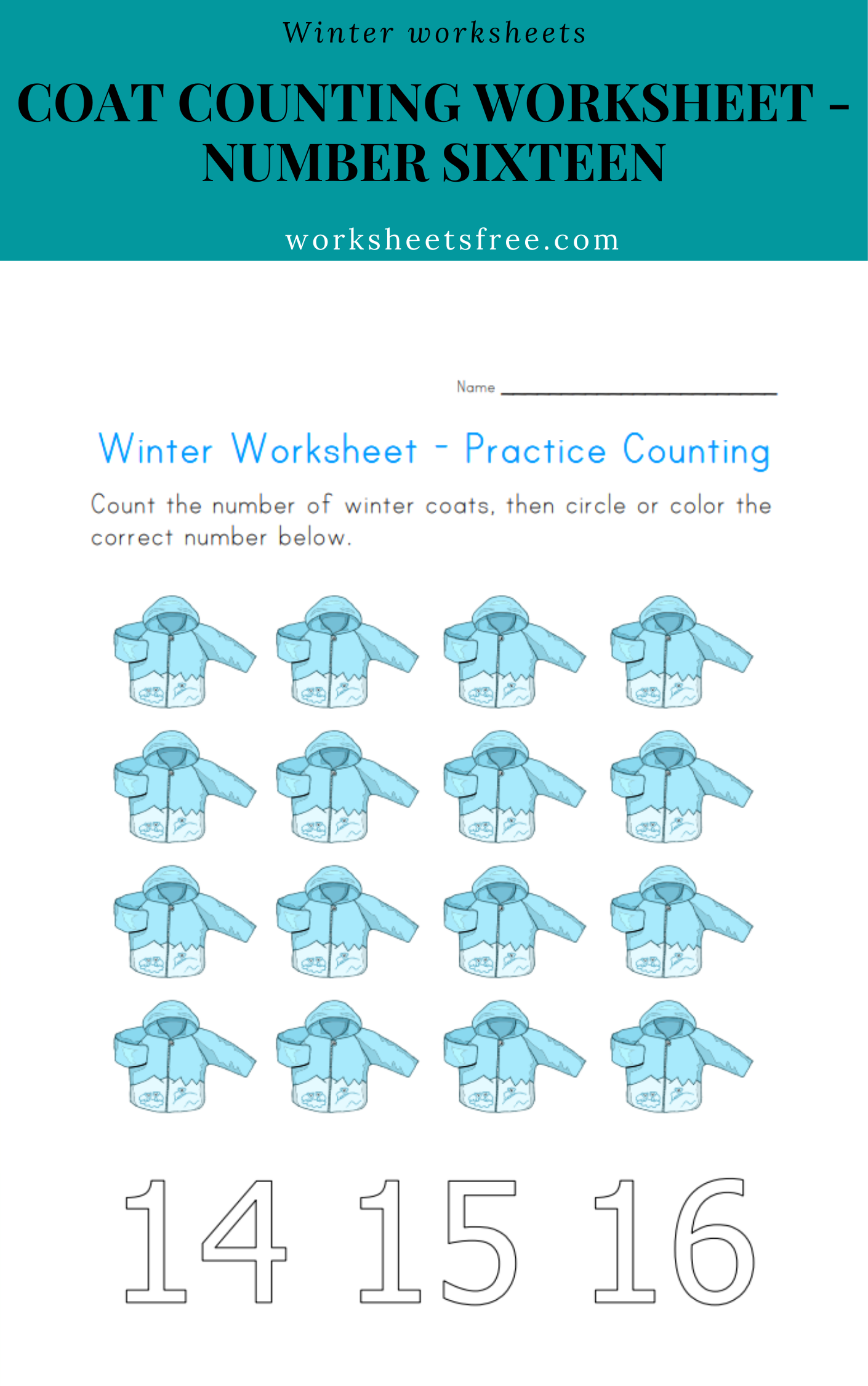 Coat Counting Worksheet