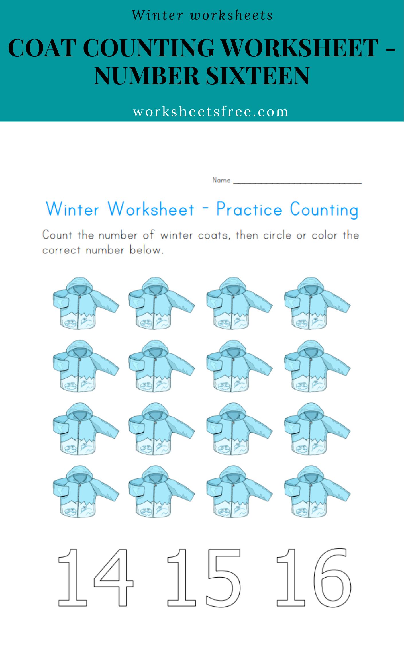 Coat Counting Worksheet