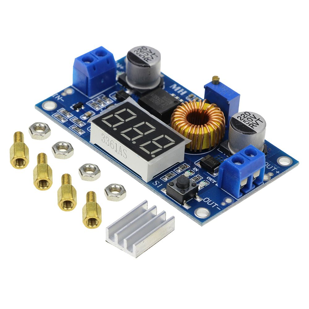 Free Shipping 5a 75w Xl4015 Dc Converter Adjustable Step Down Variable Voltage Regulator Power Supply Circuit Electronicshuborg Module 40