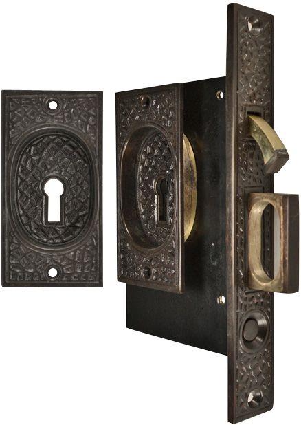 Craftsman Pattern Single Pocket Privacy Lock Style Door Set Oil Rubbed Bronze Pocket Doors Pocket Door Hardware Craftsman