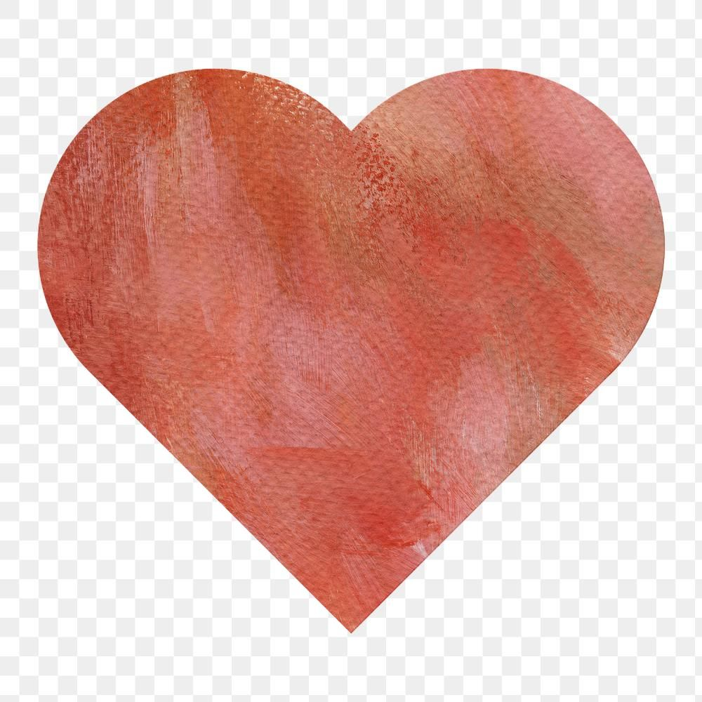 Watercolor Textured Paper Heart Shaped Sticker Design Element Free Image By Rawpixel Com Sasi